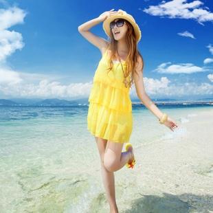 2013夏季新款韩版女装甜美可爱吊带连衣裙子 fashion _梦-淘宝网