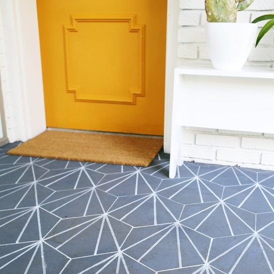 Create faux cement tile with paint markers!
