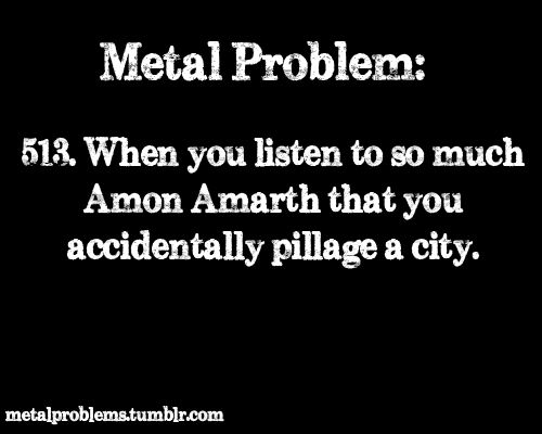 Metal problem 513. Amon Amarth
