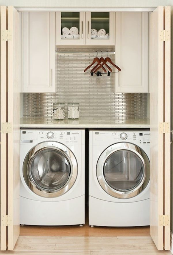 How to make a small space into a laundry room.