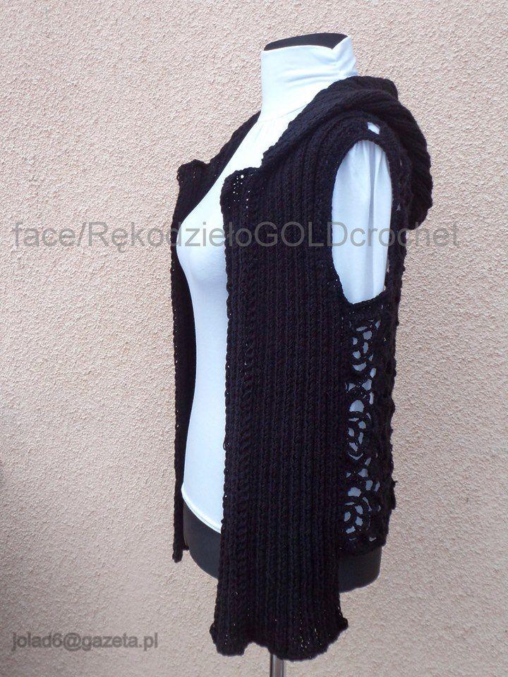 #szydełko #crochet #handmade #rękodzieło #kamizelka #druty #knitting