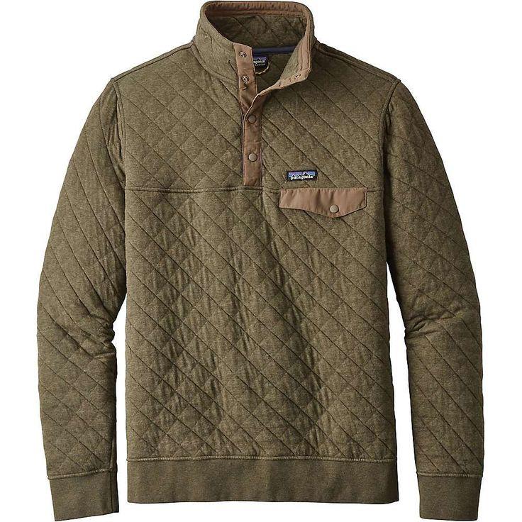 Patagonia Men's Cotton Quilt Snap-T Pullover - XXS - Industrial Green #fashionhoodiemens