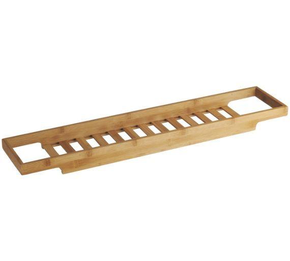buy habitat bethany over the bath rack bamboo at argoscouk
