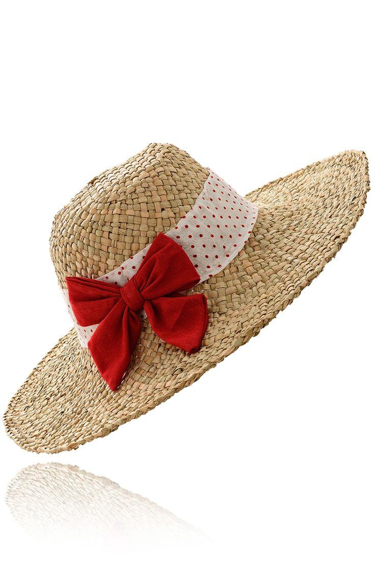 LALÙ ARDINE Red Beach Hat - ACCESSORIES | HATS | Beach Hats | PRET-A-BEAUTE.COM