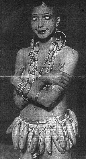 Josephine Baker making faces ........;)))  Cult of Weird.