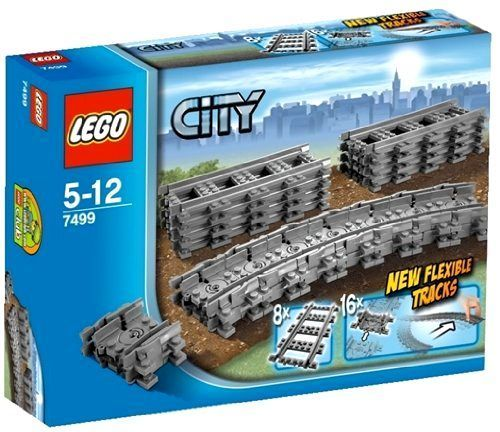 LEGO City 7499 Flexible Tracks Set Lego Sets Lego Building Toys Bricks NEW #LEGO