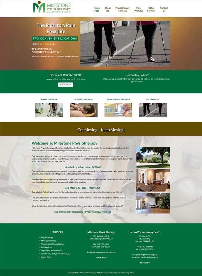 Milestone Physiotherapy of Amherstburg, Ontario. Sister company to Harrow Physiotherapy.