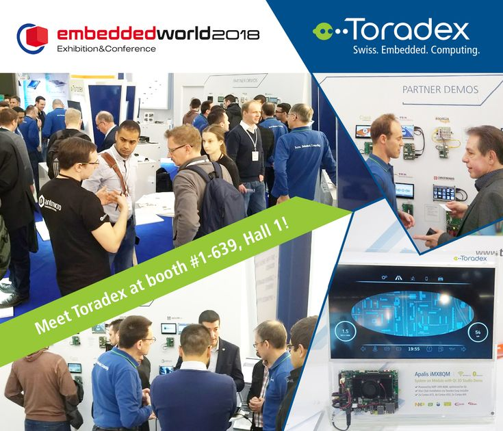 Embedded World 2018 is underway and Toradex is front and center with its latest products and a host of exciting demos! Drop by today - hall 1, booth 1-639! #Qt #Christmann #Antmicro #Roboception #CrankSoftware #GreenHillsSoftware #Mender #ITTIA #Nexo #ICS #Acontis #AtechnologyBV #TES #CODESYS #VertexAI #Gumstix #MVTec #DiSTI #EW18