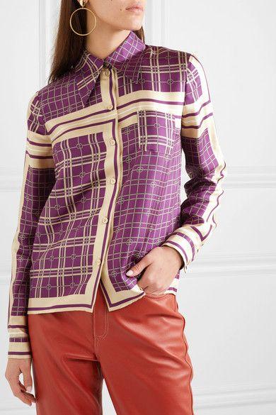 952ac30577 Gucci - Printed silk-satin twill shirt en 2019 | My Style | Twill ...