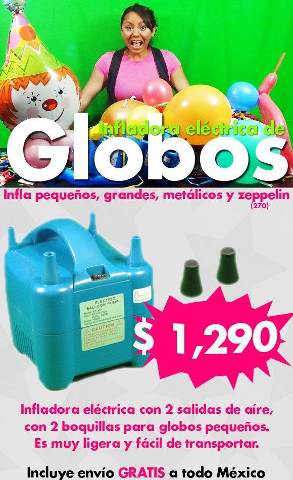 Infladora eléctrica de Globos $1,290 envío GRATIS a cualquier parte de México