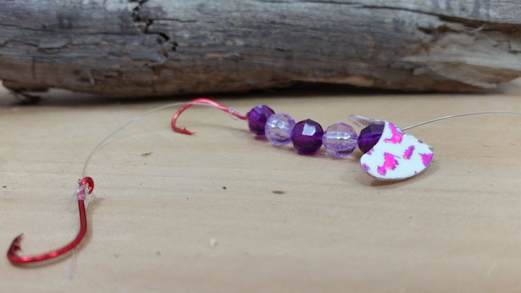 Fishing Tackle - Double Hook Purple Faceted Trolling Worm Harness - Walleye Fishing Lure - Handmade in Oregon - Made in USA by CrankandSpinTackle on Etsy