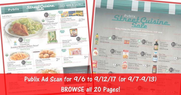 Anybody want to BROWSE the actual upcoming Publix Weekly Ad Scan? Here is the Publix Weekly Ad Scan for 9/6/17 - 9/12/19 (9/7-9/13 for Some)! Click the Picture below to BROWSE all 20 Pages ► http://www.thecouponingcouple.com/publix-weekly-ad-scan-9-6-17/  Visit us at http://www.thecouponingcouple.com for more great posts!