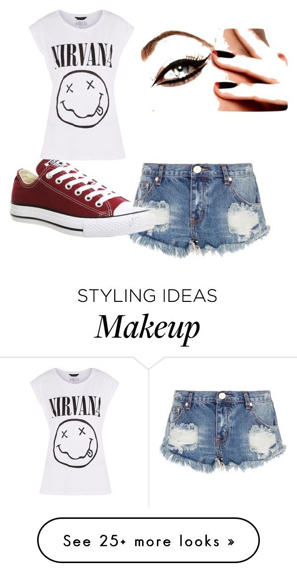 """My First Polyvore Outfit"" by maraisadferreira on Polyvore featuring One Teaspoon and Converse"