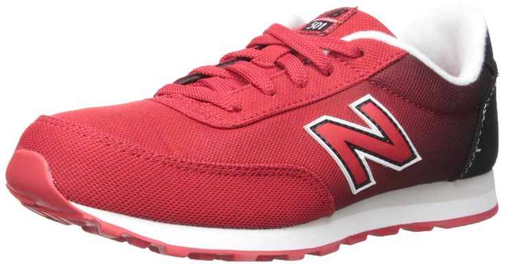 New Balance KL501V1 Youth Gradient Pack Fashion Sneaker (Little Kid/Big Kid), Red/Black, 12 M US Little Kid. Ethylene vinyl acetate midsole and heel.