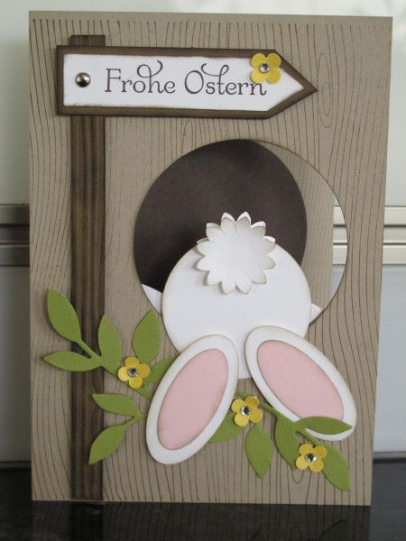 Cased Bunny Punch Art Card