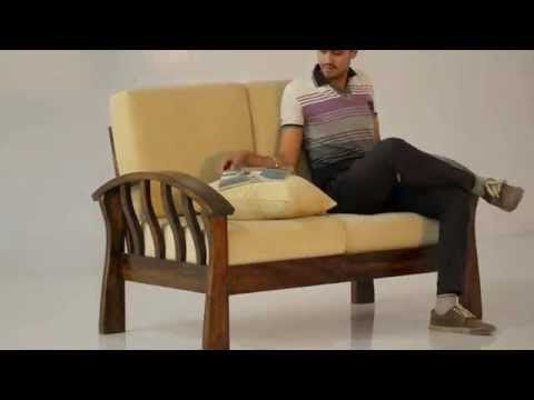 Raj Sofa Set - Indian Solid Sheesham Wood Furniture | Saraf Furniture