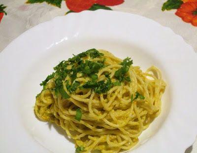 Raccontare un paese: le mie ricette: spaghetti cremosi e leggeri  un a ricetta molto leggera
