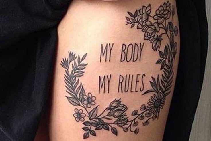 20 tatuajes para mujeres inteligentes, seguras, pensantes, valientes y decididas que, a la vez, son todas. Esos diseños para hacerse notar en este mundo.