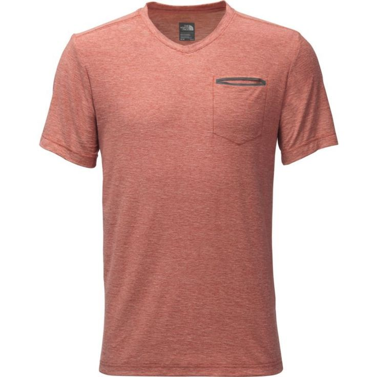 The North Face Men's FlashDry Heather V-Neck T-Shirt, Size: XL, Ketchup Red Heather