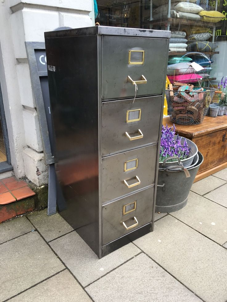 a vintage polished metal industrial filing cabinet with brass handles - Metal Filing Cabinets. . Full Size Of Filing Filing Cabinets For