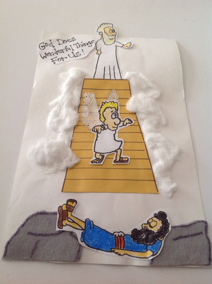 Jacob 39 s dream bible craft bible lessons pinterest for Bible school crafts for toddlers