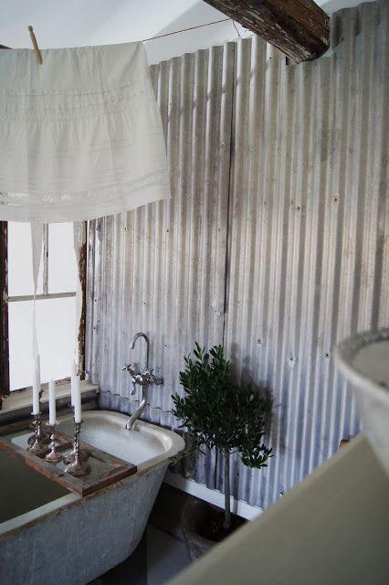 """Résultat de recherche d'images pour """"tole ondulee salle de bain"""""""