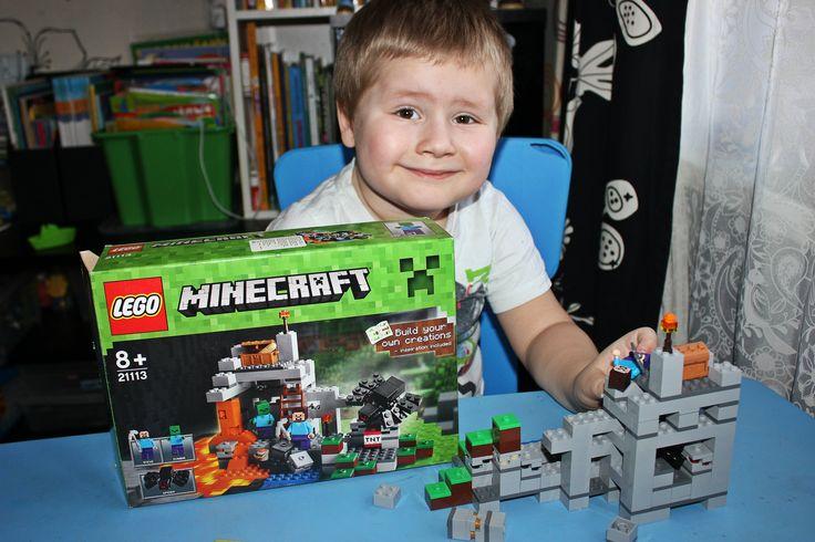 Майнкрафт ЛЕГО Собираем набор Пещера LEGO MINECRAFT The Cave unpacking set