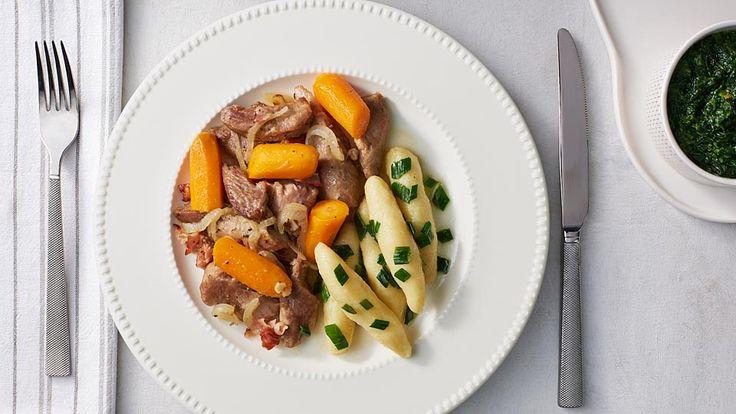 Pečené morčacie stehná s mrkvou
