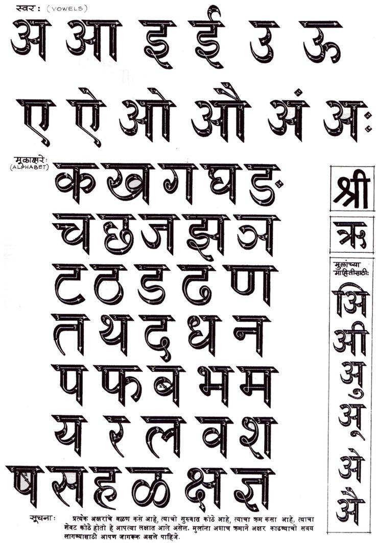 11 best Devanagari images on Pinterest Sanskrit, Lettering and - best of letter format in marathi language