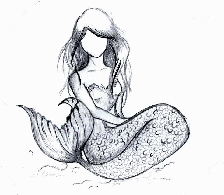 Easy Mermaid Drawing Mermaid Drawings Co Good How To Draw A Mermaid