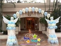 Resultado de imagen para decoraciones de primera comunion en globos