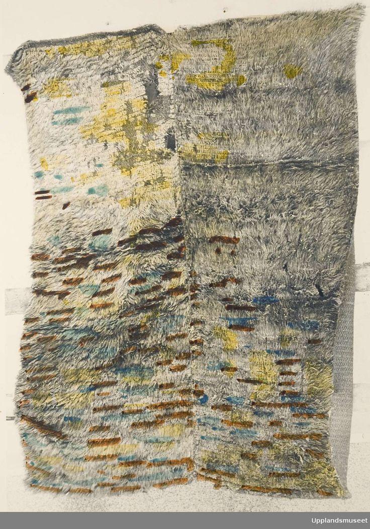 Mrs. Maria Jonsson | rya | hemp + wool | Norrhusen, Viksta, Uppland, Sweden | c. 1916