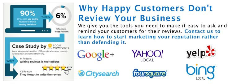 Why happy customers don't review your business?