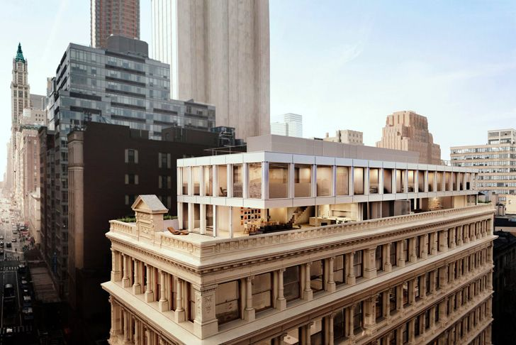 Shigeru Ban's Twin Rooftop Penthouses Will Perch Atop an Existing Tribeca Building