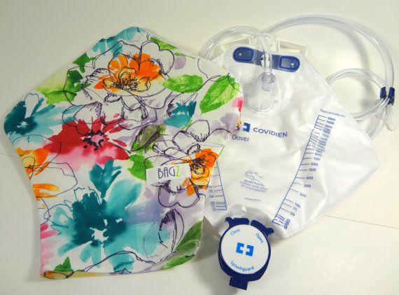 Catheter bag cover by BAGZ™  for Covidien by thecottonbunny