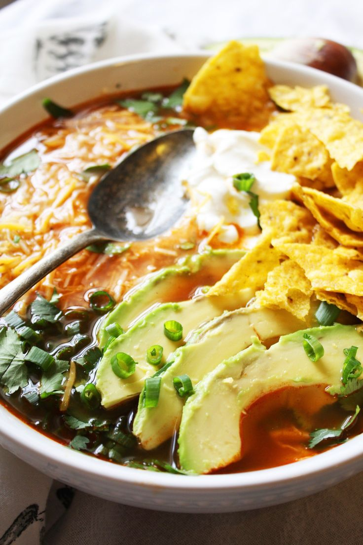 Fresh and easy tortilla soup recipe