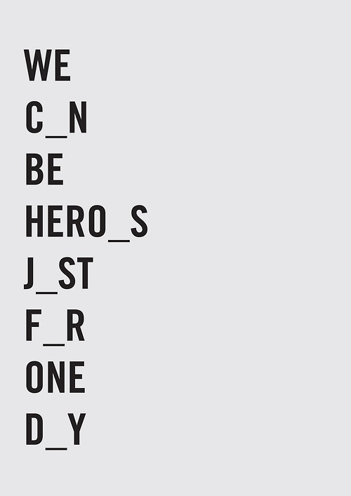 hero's // also, don't try to spell anything out of the missing letters...you'll be let down...