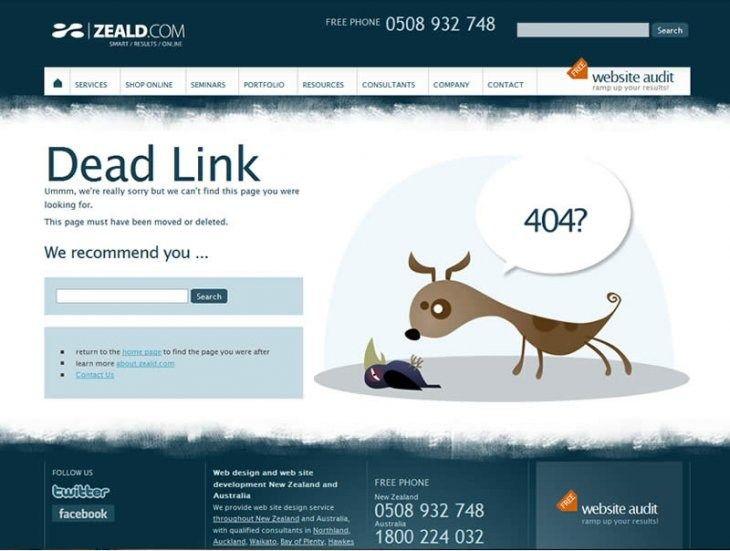 Custom 404 Page - www.zeald.com