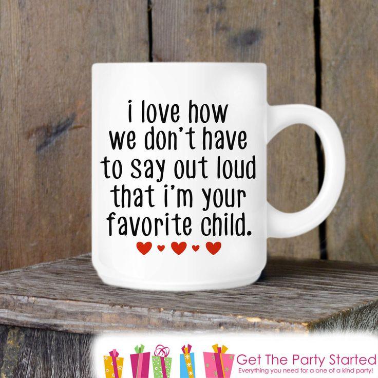 Coffee Mug, Funny Mother's Day Mug, Mom's Favorite Child, Novelty Ceramic Mug, Coffee Cup Gift, Mom Gift, Mothers Day Gift Idea, New Mom