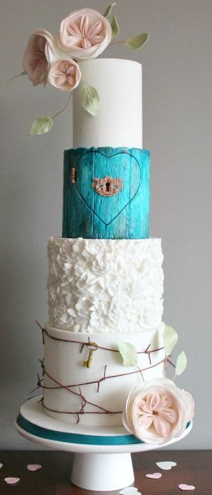 Forbidden Love Wedding Cake #RePin by AT Social Media Marketing - Pinterest Marketing Specialists ATSocialMedia.co.uk