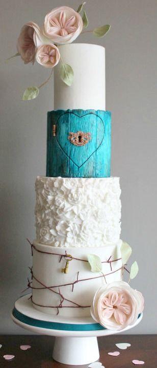 Forbidden Love Wedding Cake #RePin by AT Social Media Marketing - Pinterest Marketing Specialists ATSocialMedia.co.uk