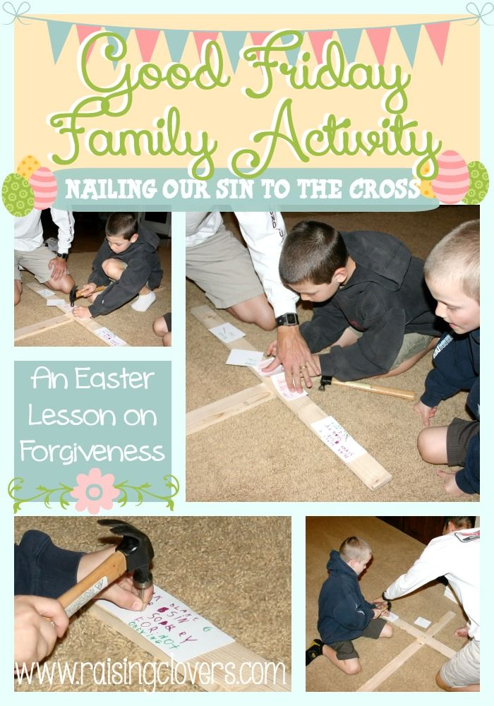 Good Friday Family Activity: An Easter Lesson in Forgiveness! - by Raising Clovers. This Good Friday family activity is so powerful to do with kids. There is nothing better than a hands-on lesson to learn about all forgiveness!