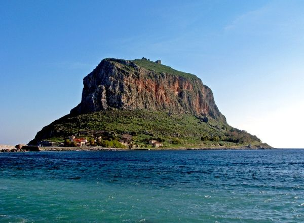 Monemvasia Greece  The Gibraltar of Greece is an island where history has fought its many battles and nature retained its beauty. Cozy and warm hearted place, this is a secluded spot for those who want to experience the life on a low rhythm and all the beautiful features it has.
