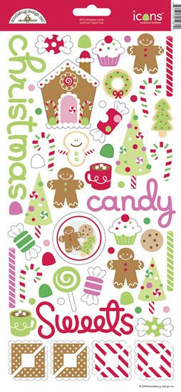 Doodlebug Design - Christmas Candy Collection - Sugar Coated Cardstock Stickers - Icons at Scrapbook.com $3.79