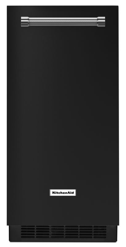 KitchenAid KUIX305E 15 Inch Wide Automatic Ice Maker with Max Ice Mode Black Ice Makers Ice Maker Built-In