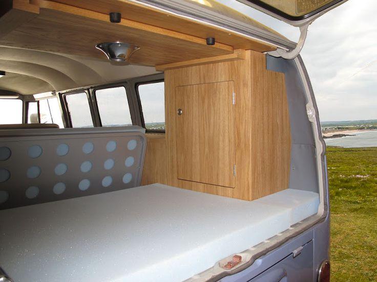 Kustom interiors camper for a split window bus kombi for Vw kombi interior designs