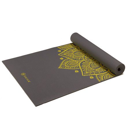A yoga mat I would love to have for my gym bag is Gaiam's Citron Sundial Yoga…