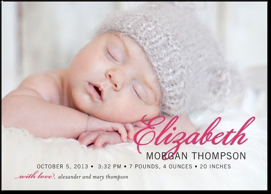 A PROUD PICTURE: BEGONIAGIRL PHOTO BIRTH ANNOUNCEMENTS