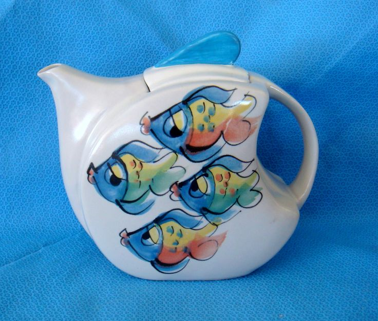 Christine Purdom teapot - there's something fishy about this one!