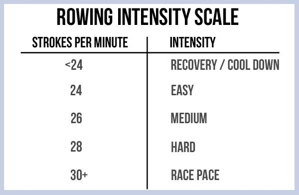 Rowing Intensity Scale (30-Minute Rowing Workout)